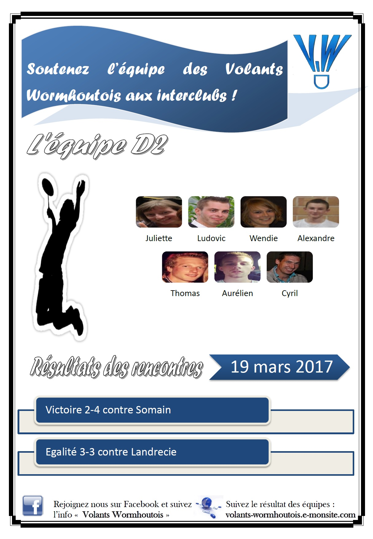 Resultats interclubs 19 03 2017